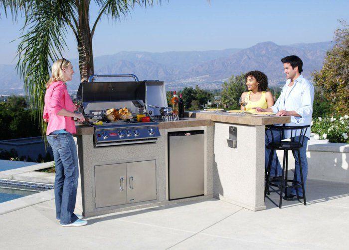 außenküche selber bauen kücheneinrichtung eingebaute küchengeräte ...