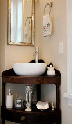 See More Bathroom Washbasin And Freestanding To Inspire You For - Corner mirror for bathroom for bathroom decor ideas