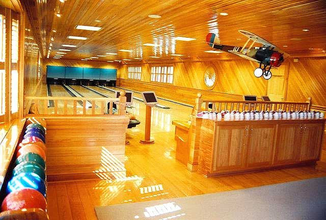 Beautiful home bowling alley in home bowling alleys for House plans with bowling alley