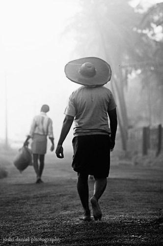 Treading On Kannur Black And White Photographs Kerala
