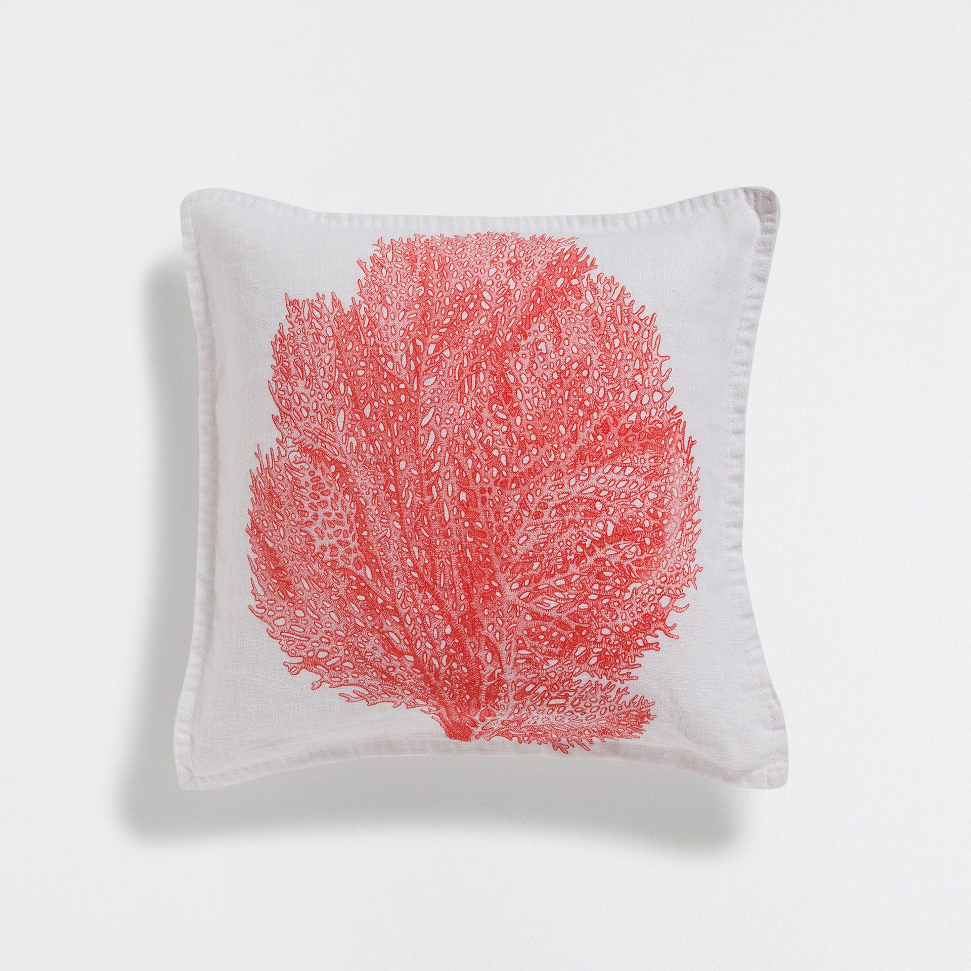 Marine print linen cushion cover design ocean pinterest