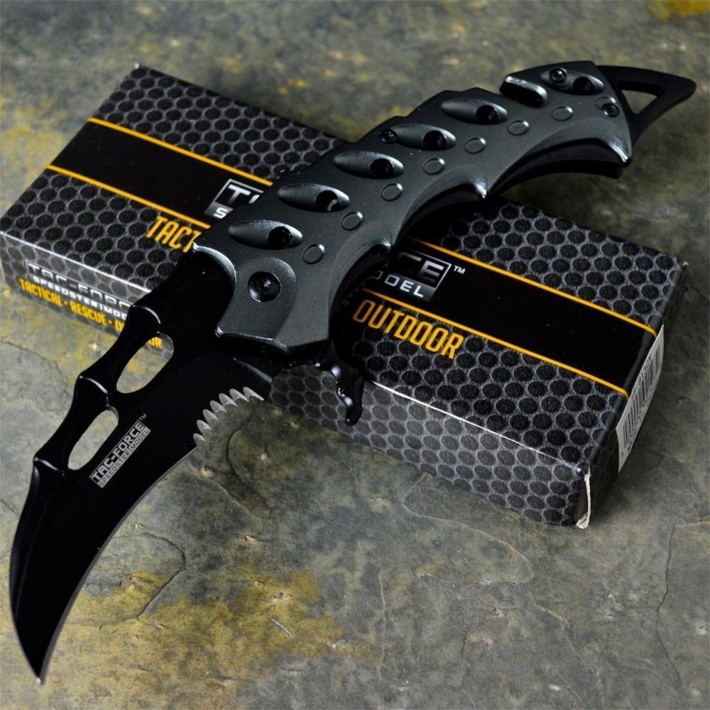 a51c7862dd02 TAC-FORCE New Karambit TACTICAL Claw SPRING ASSISTED Open Folding Pocket  Knife #TACFORCE