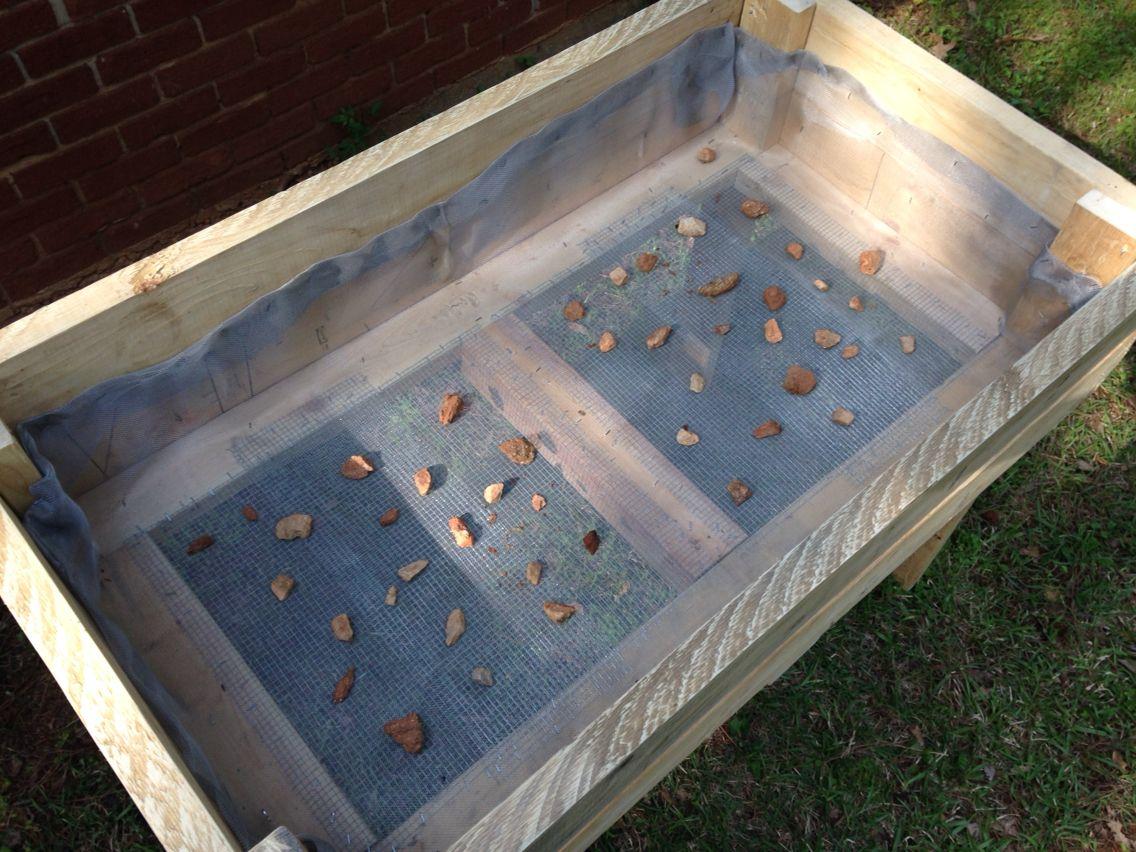 DIY Raised Garden Bed With Screened Bottom For Drainage. DIY . Garden . Raised  Garden