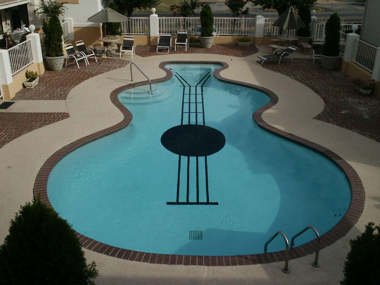 Ingenious Pool Shaped Like A Guitar Pool Shapes Pool Swimming