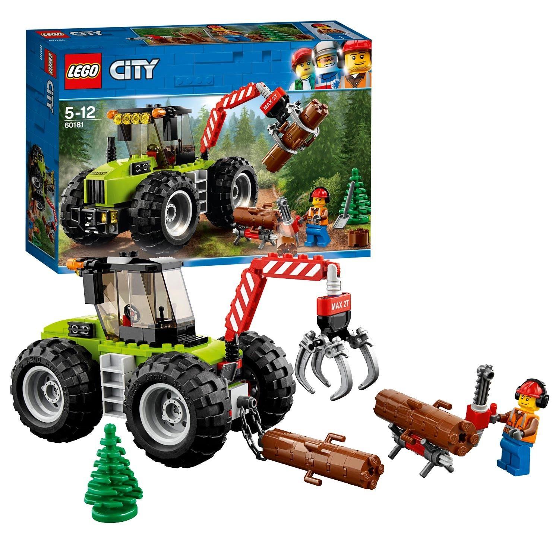 Zet Je Veiligheidshelm Op En Ga Diep Het Bos In Neem Plaats Achter Het Stuur Van De Bostractor En Til De Omgeva Speelgoed Voor Jongens Lego City Bouwspeelgoed