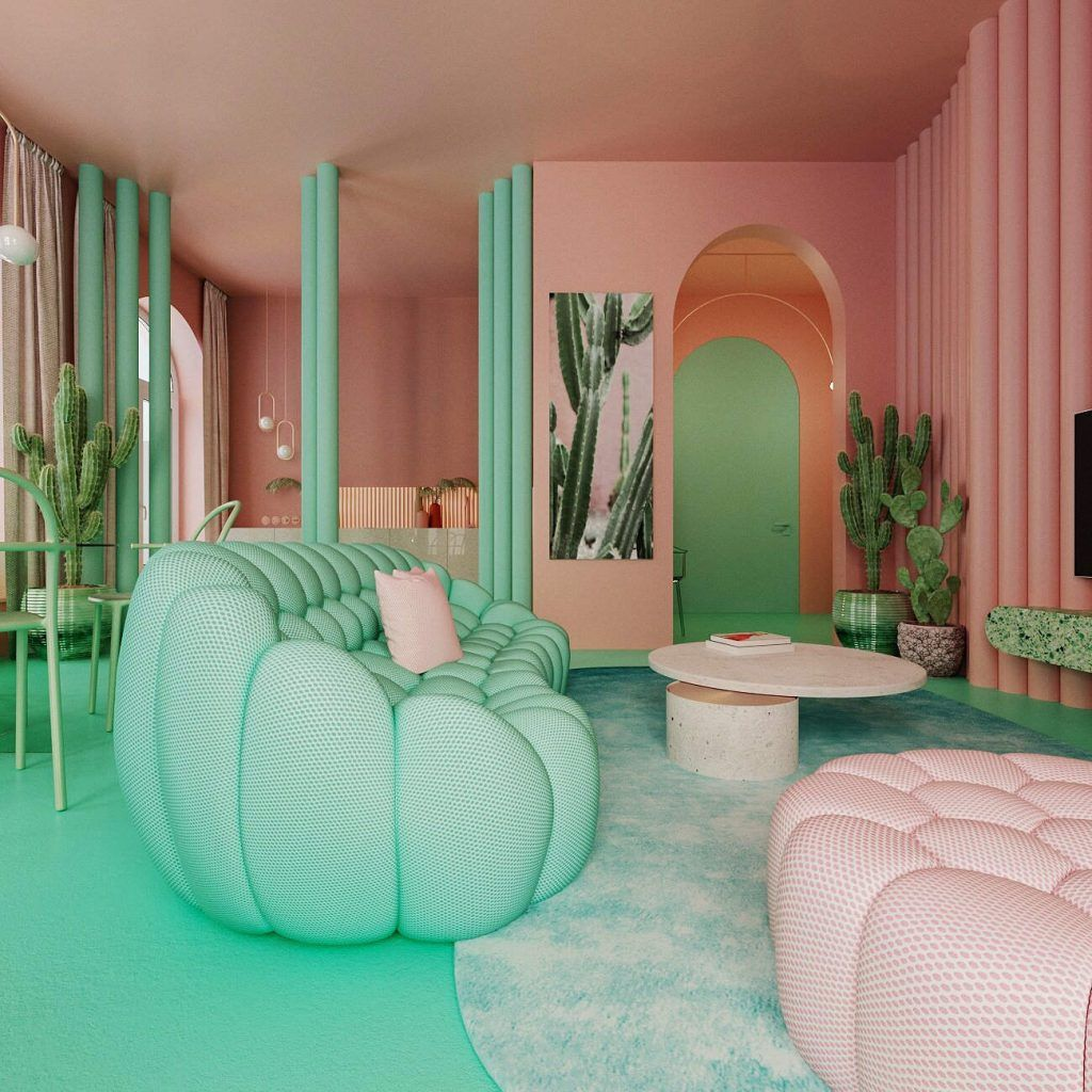 HOME TOUR   Interior design in Pantone 2019 and other trendy colors