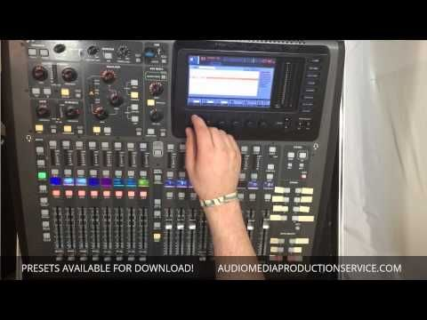 Midas M32 / Behringer X32 - Downloadable Presets | Off The Wall in