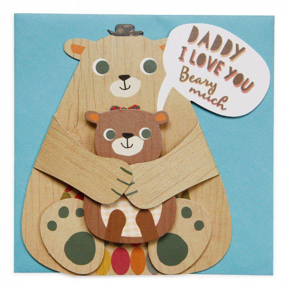 Daddy bear dad birthday card All Birthday Cards
