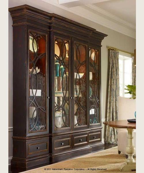 Habersham East Hampton Display Cabinet Glass Cabinet Doors Display Cabinet Habersham Furniture
