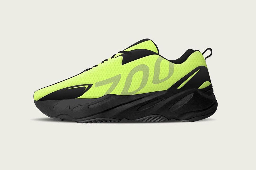 81d1feca YEEZY BOOST 700 VX 6ix9ine Gift Sample Revealed Neon Green Volt Wave Runner