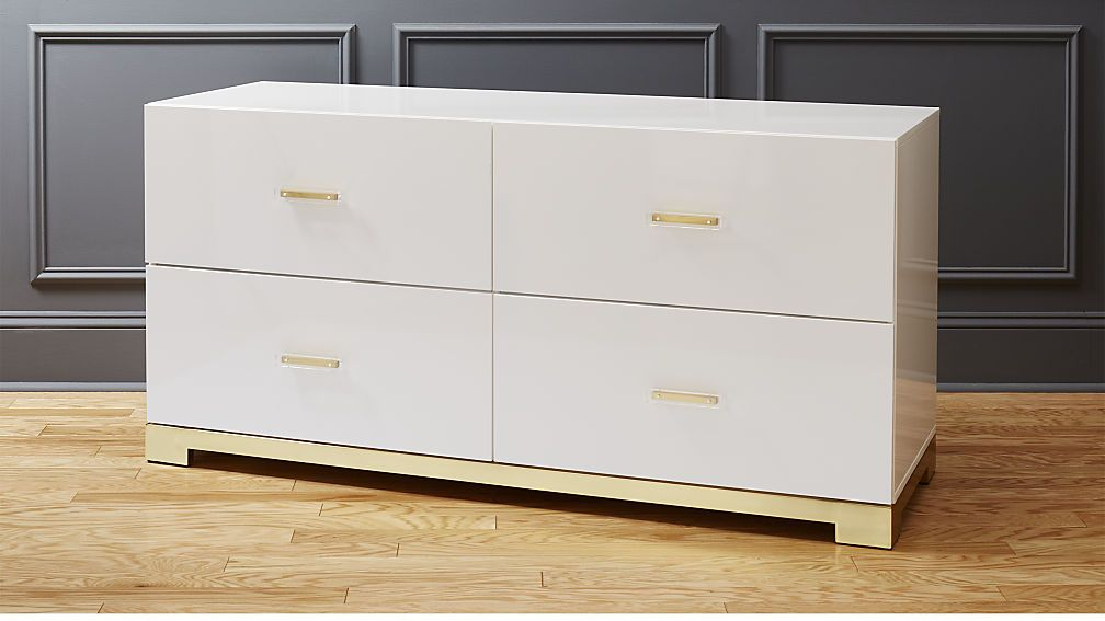 Odessa Low White Gloss Dresser New Homes Home Bedroom