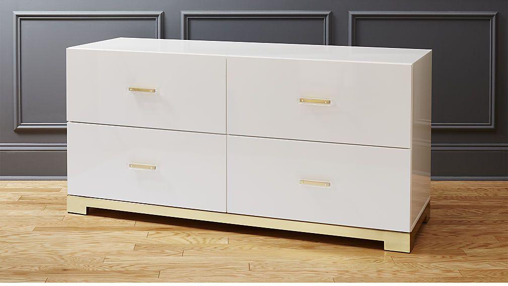 899 00 Odessa Low White Gloss Dresser Dining Room Master