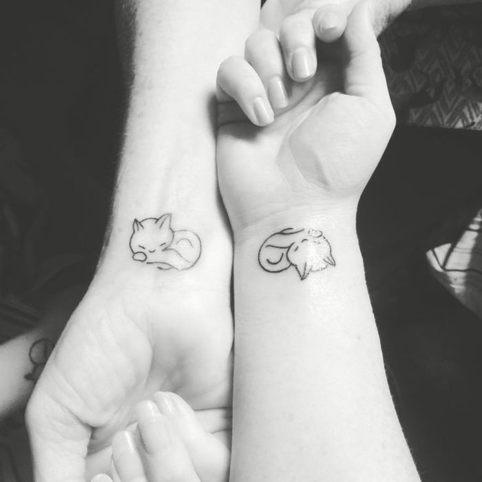 Katzen Tattoo Umriss