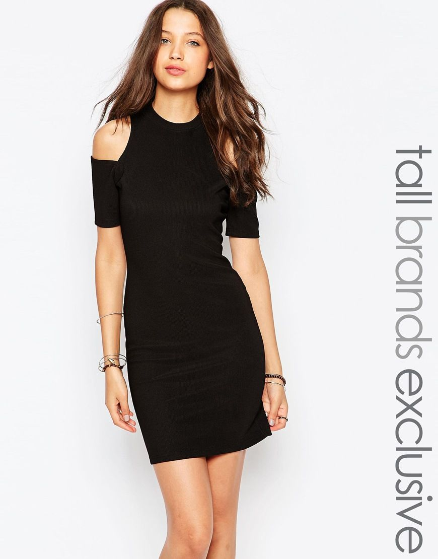 Glamorous Tall Cold Shoulder Bodycon Dress | Tall Clothing ...