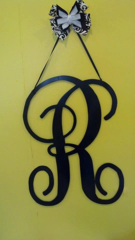 Single letter initial metal wall/door hanger by BackyardMetalArts ...