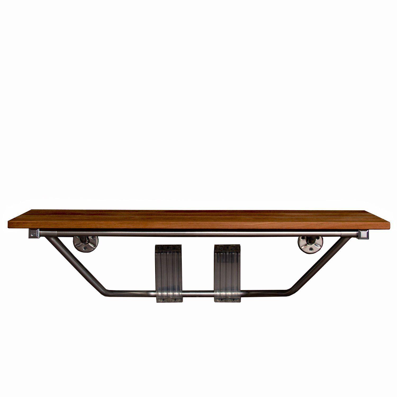 36 double seat folding shower bench modern
