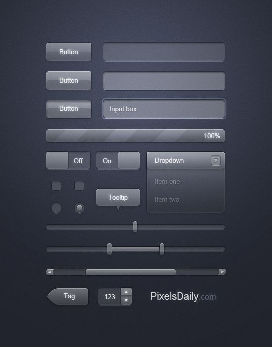 Transparent Glass UI: Free PSD for User Interface Design - Interface