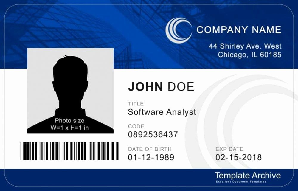 Free Id Card Template Word Best Of 16 Id Badge Id Card Templates Free Template Archive Id Card Template Card Templates Free Employee Id Card