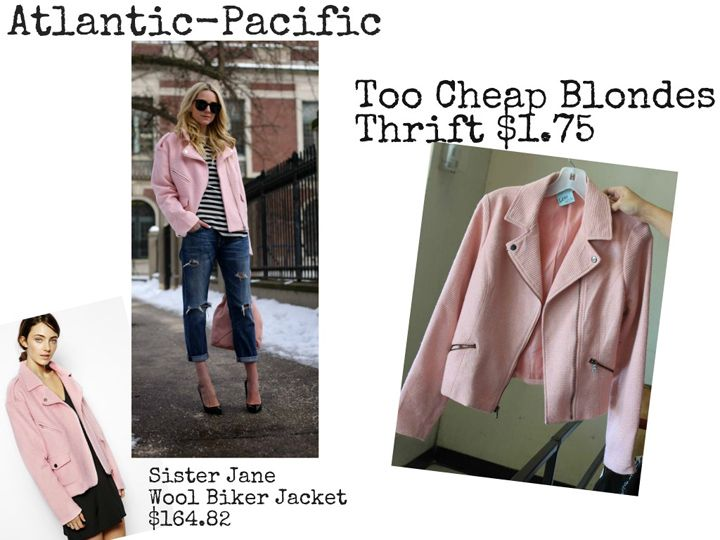 Atlantic Pacific pink moto jacket