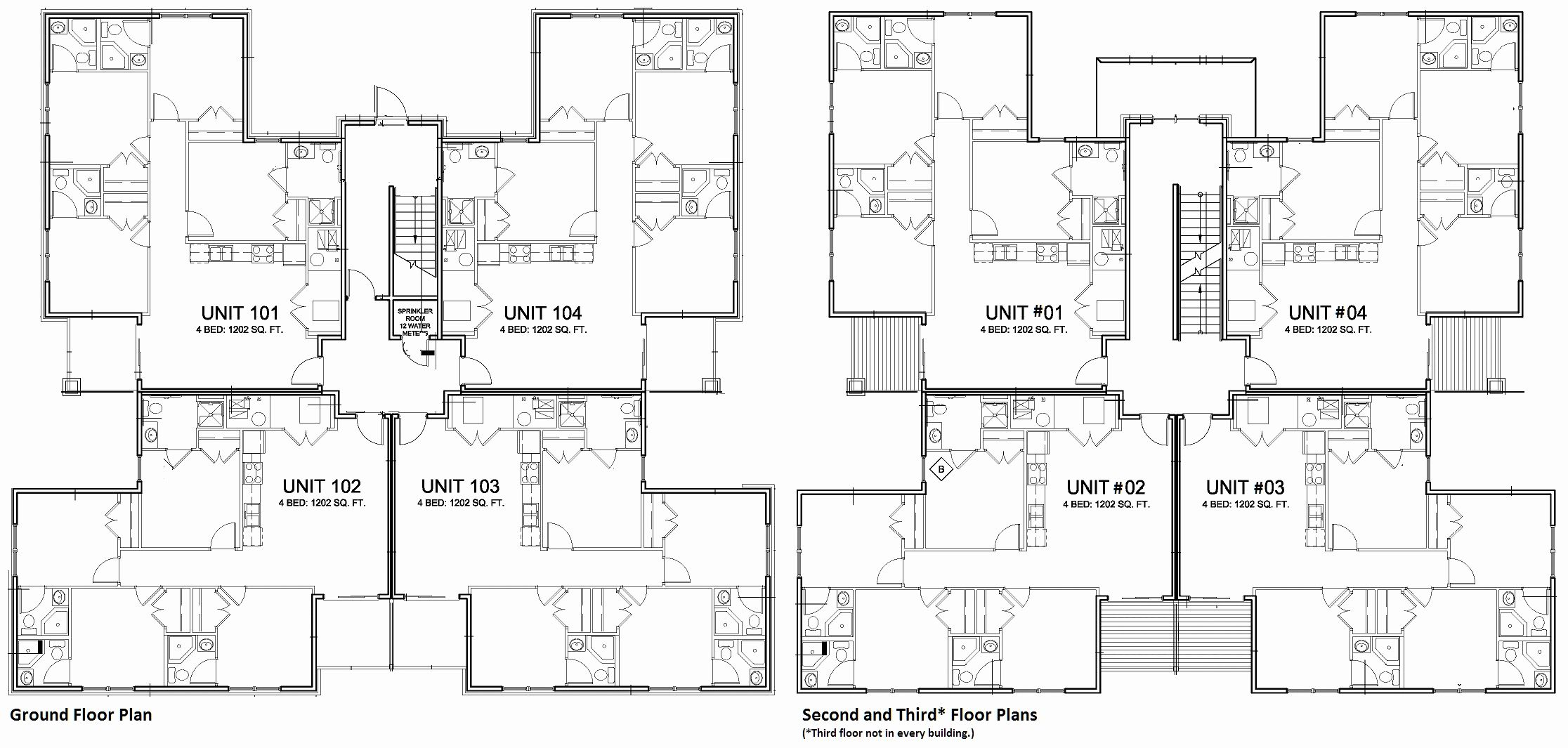 Floor Plans With Cost To Build Elegant Apartment Building Plans 4 Units Apartment Building Apartment Floor Plans Cool House Designs