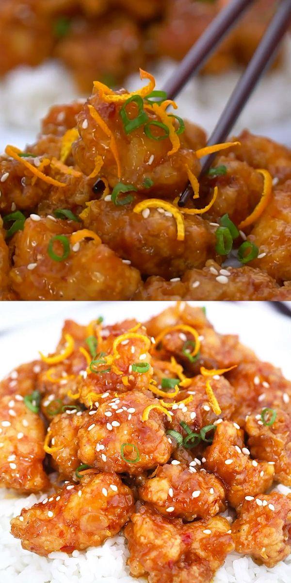 Crispy Orange Chicken - Sweet and Savory Meals