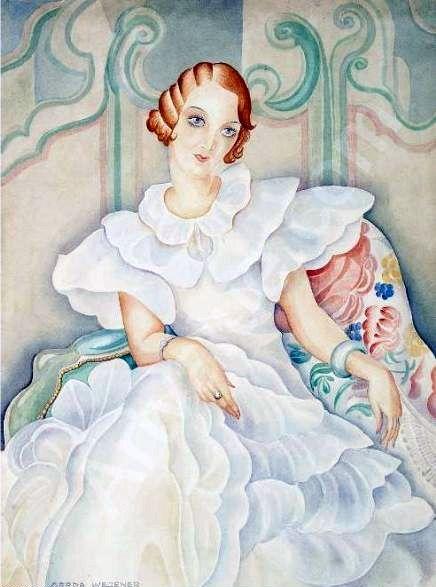 Brigitte Bergman by Gerda Wegener, c. 1920