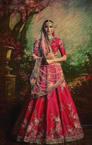 0c781a5337 Pink Color Bridal Lehenga Choli from Sabyasachi Collection in 2019 ...