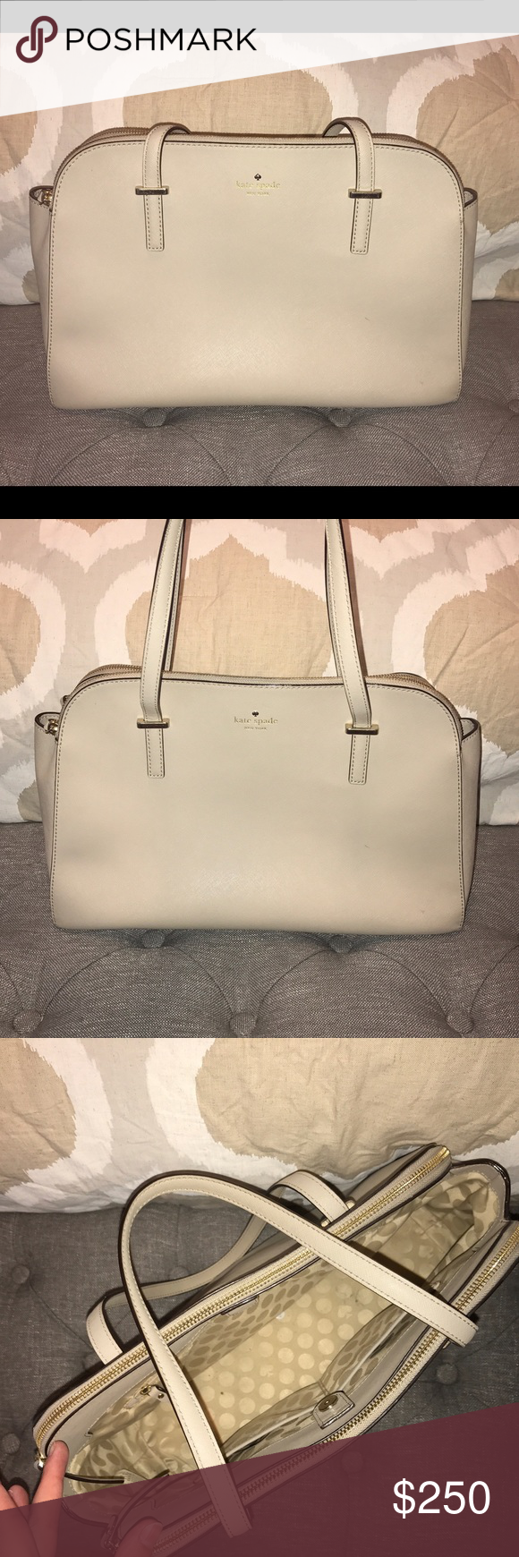 Kate spade cedar street Elissa tote! Great condition! Has some minor marks on the interior not noticeable when zipped but no flaws on the outside! This is a discontinued style! kate spade Bags Totes