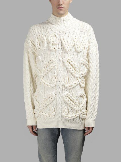 Offwhite Cable Knit Sweater Loewe Original Cheap Online Authentic