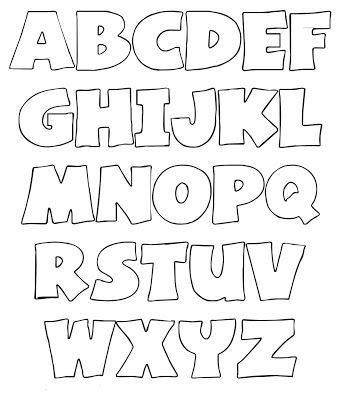 Abecedário Letras Do Alfabeto Para Imprimir Moldes De Letras