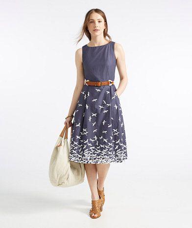 a82f8de76a3 Women s Dresses and Skirts. LL Bean Signature Poplin Dress