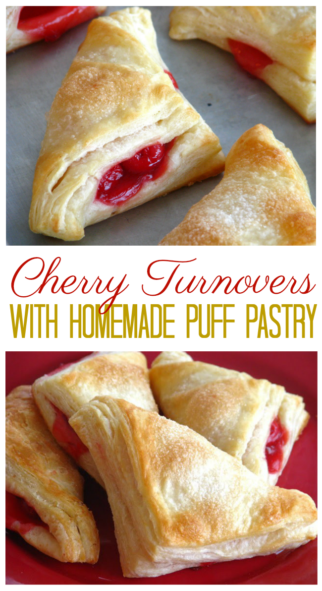 Cherry Turnovers With Homemade Puff Pastry Recipe