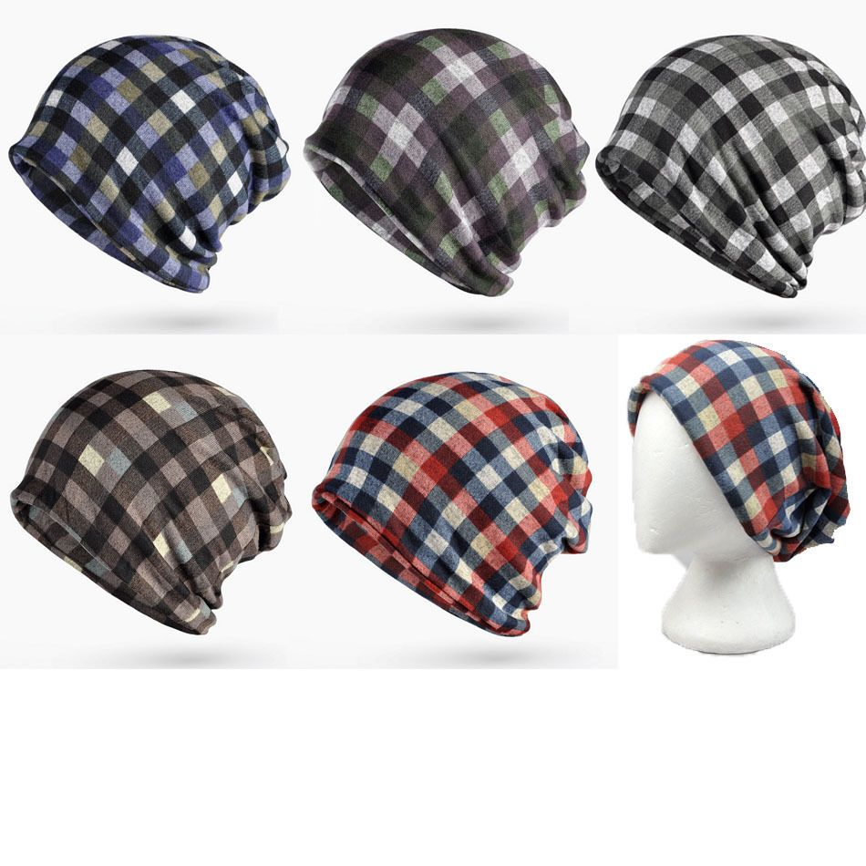 Plaid unisex Alopecia Cancer Chemo Hairloss Head Scarf Turban ...