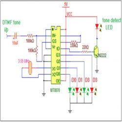 Dtmf Decoder Circuit Diagram Dtmf Circuit Engineersgarage - Wiring
