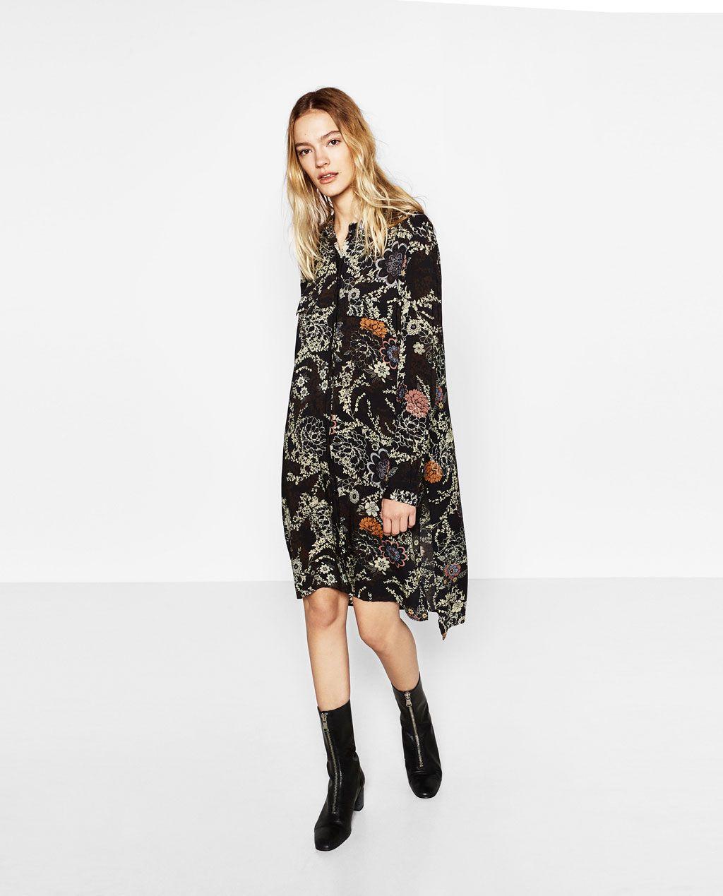 35509566e360 PRINTED SHIRT DRESS-DRESSES-WOMAN