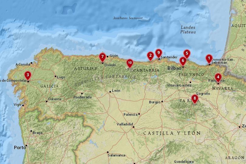 Mapa Da Espanha Do Norte Espanha Destinos Dicas De Viagem
