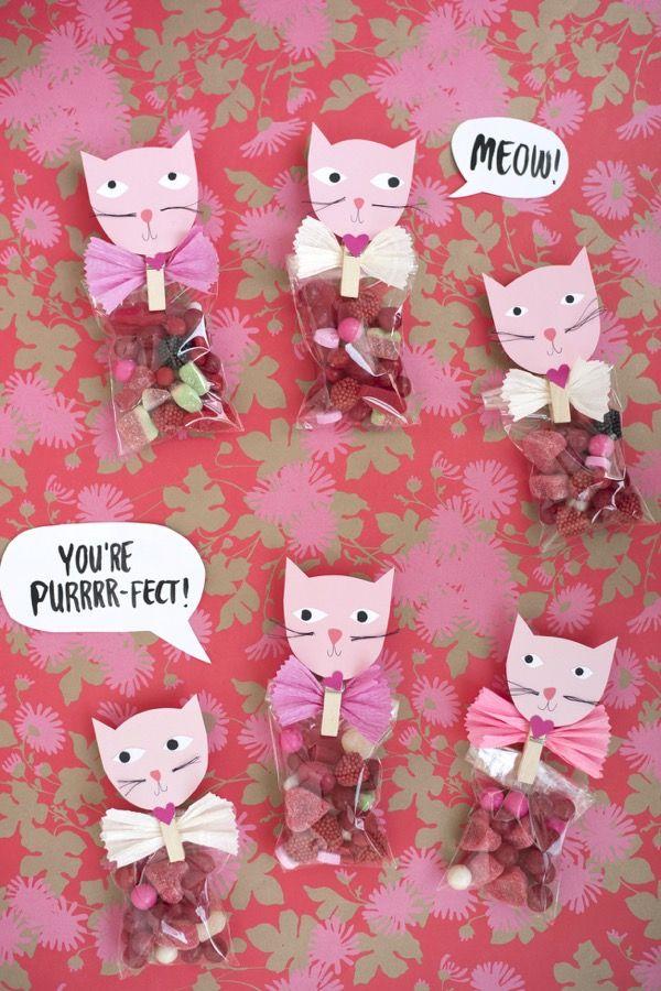 cat valentine's favors diy  valentines day cat valentine