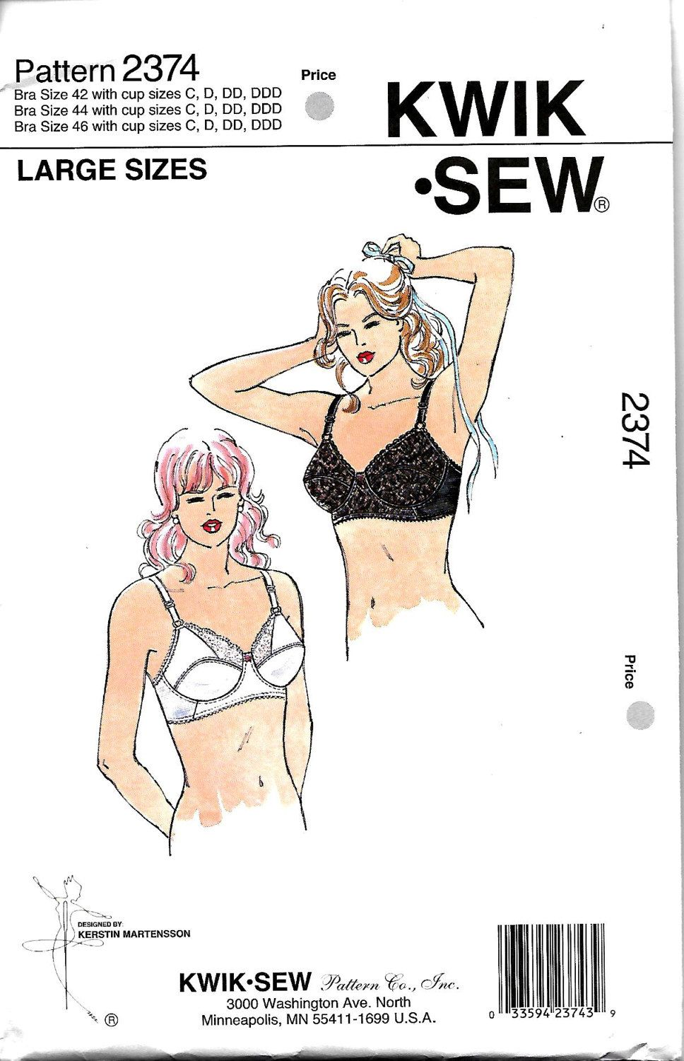 ae5317f83 Kwik Sew 2374 Misses Full Figure Bra Pattern