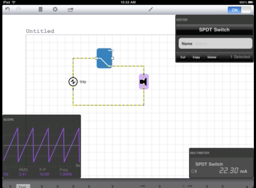 Ipad And Iphone Circuit Simulator From Http Icircuitappcom Electronics Free