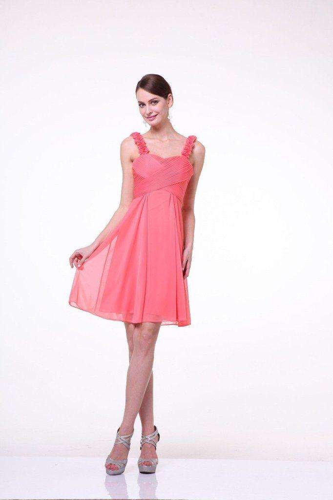 Short Formal Cocktail Bridesmaids Dress - The Dress Outlet - 1 ...