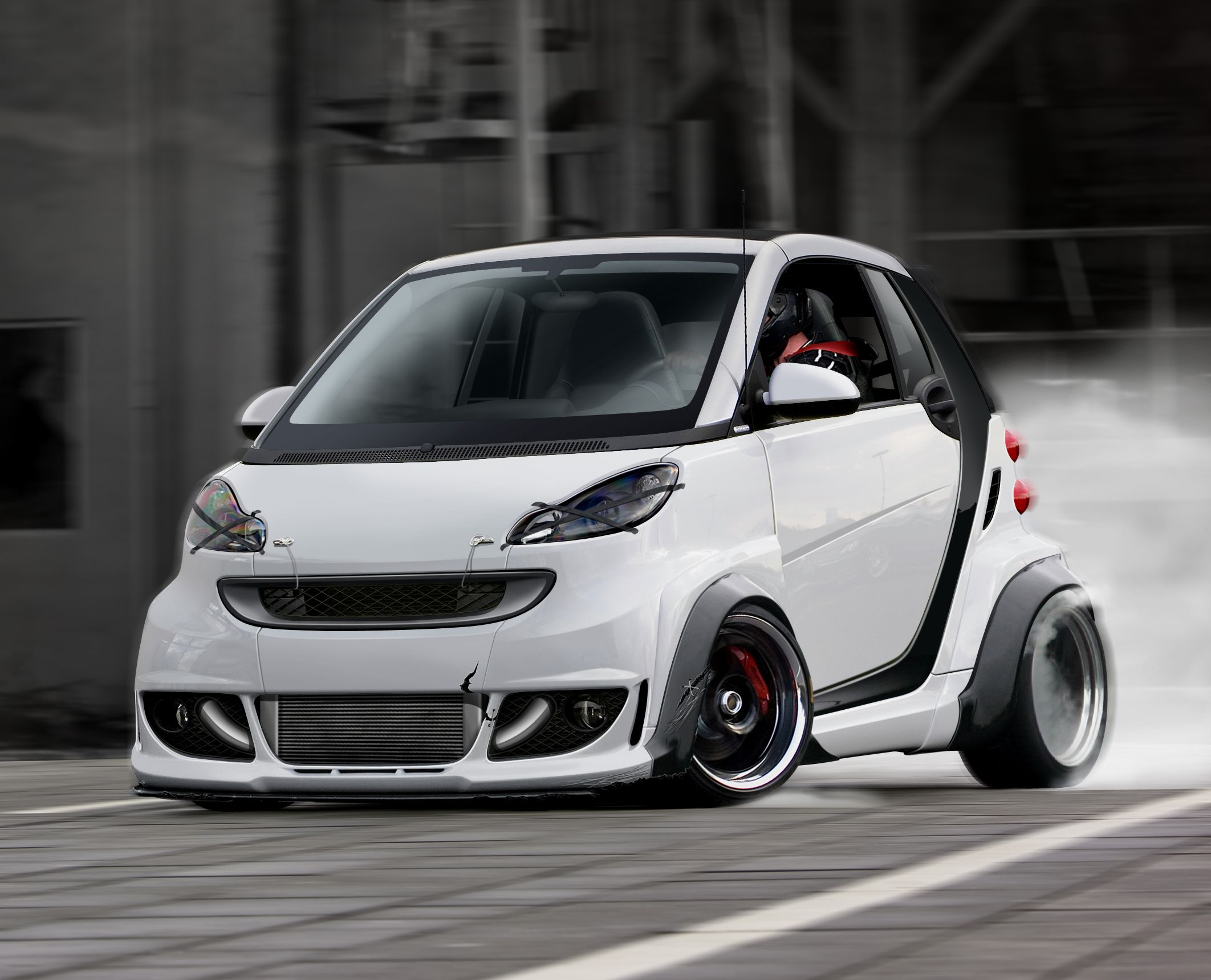 SMART CAR MODIFIED | Car Symbols | Smart Fortwo Board ...