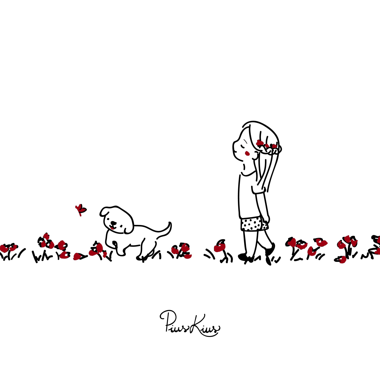 Spring Dibujos De Perros Mama De Perro Arte Lindo