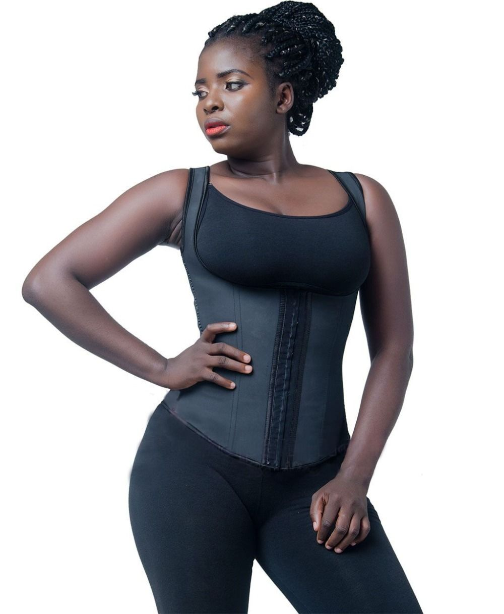 8f080444640 Find More Waist Cinchers Information about Firm compression latex waist  trainer vest 3 hook thick strap plus size steel boned latex shaper slimming  latex ...