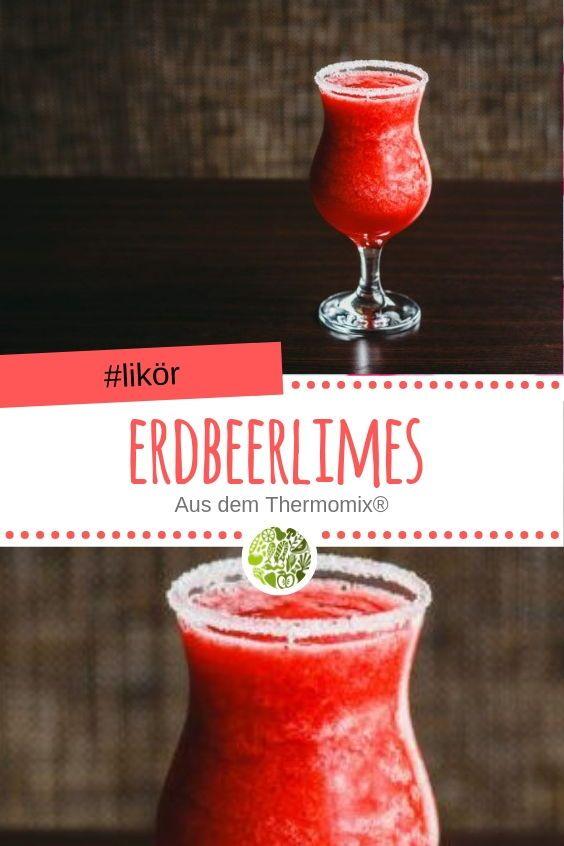 Erdbeerlimes aus dem Thermomix® #strawberrylemonaderecipes