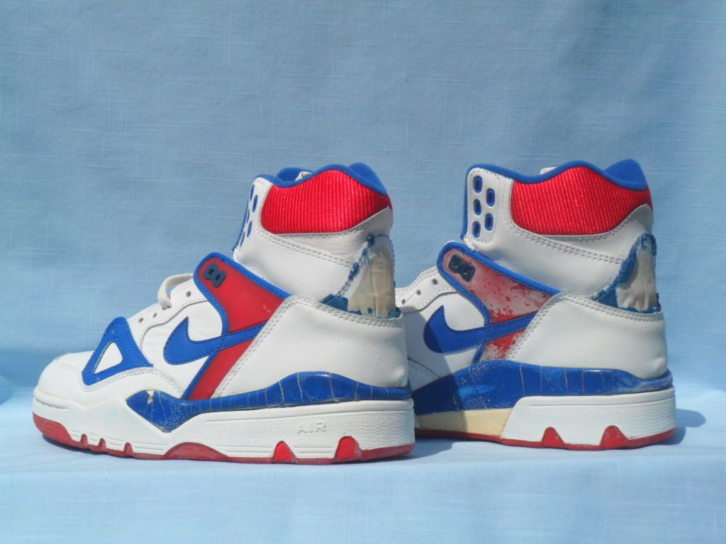 factory authentic limited guantity various colors Vintage 1989 Nike Air Force III 3 High White/Royal Blue/ ...