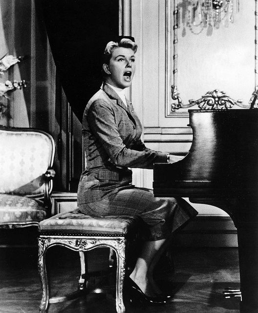 "The Man Who Knew Too Much - Doris Day in the dramatic ""Que Sera Sera"" scene."