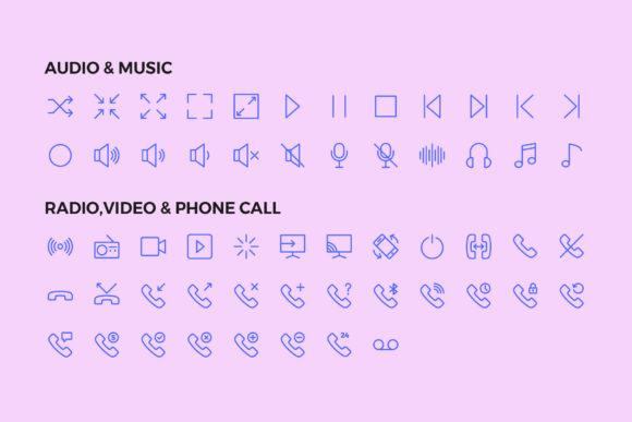 250 User Interface Line Icons Icono de aplicación