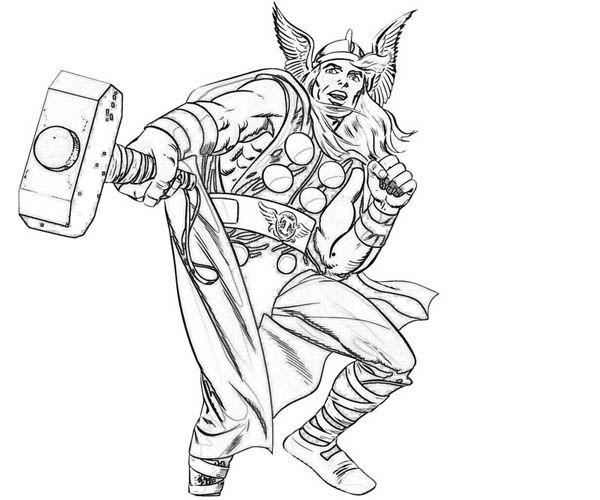 Thor Coloring Pages Printable For Kids Coloring Pages Coloring