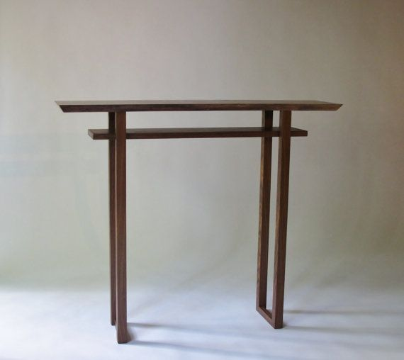 Live Edge Hall Table: Handmade Wood Furniture For Narrow Hall Table/ Entry Console  Table  CLASSIC COLLECTION