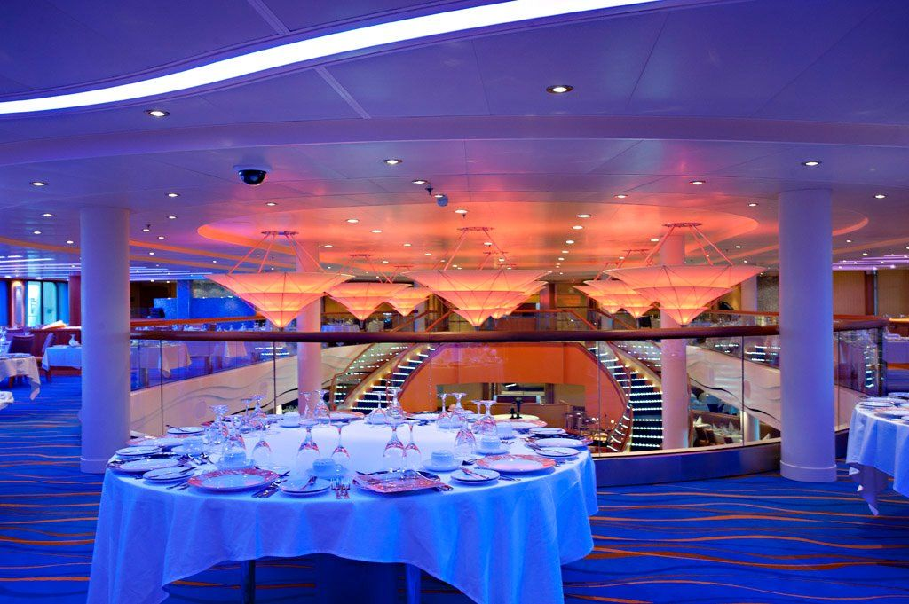 The Sapphire Dining Room On Carnival Breeze What Your Underthe Captivating Carnival Cruise Dining Room Menu Design Ideas